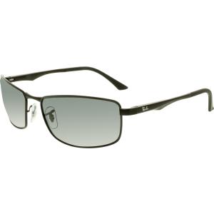 Ray-Ban Men's Polarized  RB3498-006/81-61 Black Rectangle Sunglasses