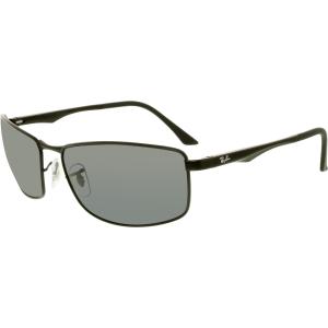 Ray-Ban Men's Polarized  RB3498-006/81-64 Black Square Sunglasses