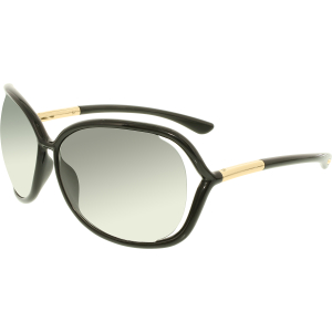 Tom Ford Women's Gradient  FT0076-199-63 Black Butterfly Sunglasses