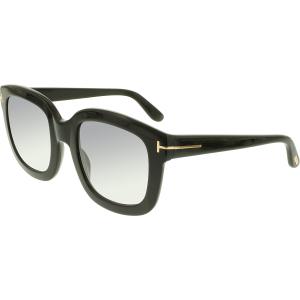 Tom Ford Women's Gradient  FT0279-01B-53 Black Square Sunglasses
