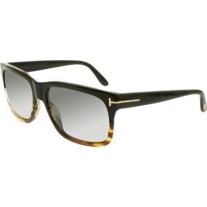 Tom Ford Men's Polarized  FT0376-05D-58 Brown Square Sunglasses