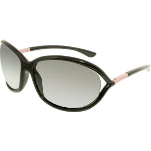 Tom Ford Men's Polarized Jennifer FT0008-01D-61 Black Oval Sunglasses