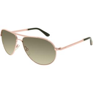 Tom Ford Women's Polarized Marko FT0144-28D-58 Rose Gold Aviator Sunglasses