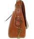 Fossil Women's Large Harper Saddle Crossbody Leather Shoulder Satchel - Side Image Swatch