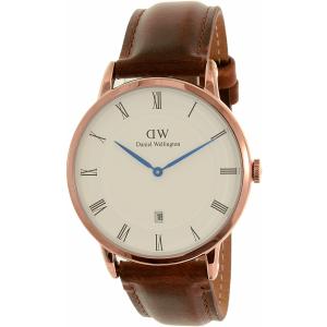 Daniel Wellington Men's Dapper St.Mawes 1100DW Rose Gold Leather Quartz Watch
