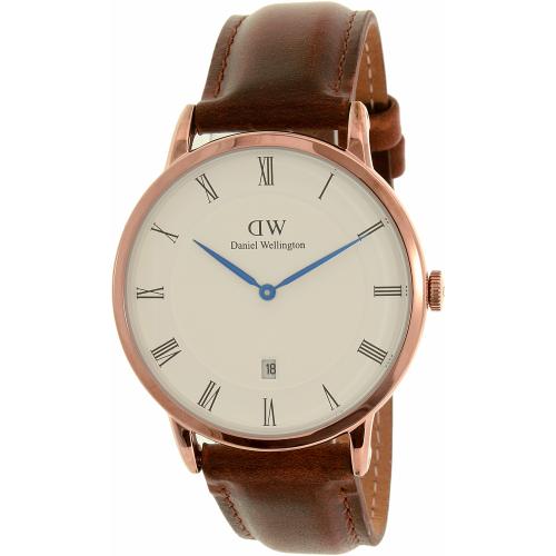 Daniel Wellington 'Dapper St. Mawes' Leather Strap Watch, 38
