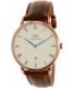 Daniel Wellington Men's Dapper St.Mawes 1100DW Rose Gold Leather Quartz Watch - Main Image Swatch
