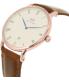 Daniel Wellington Men's Dapper St.Mawes 1100DW Rose Gold Leather Quartz Watch - Side Image Swatch