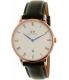 Daniel Wellington Men's Dapper Sheffield 1101DW Rose Gold Leather Quartz Watch - Main Image Swatch