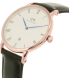 Daniel Wellington Men's Dapper Sheffield 1101DW Rose Gold Leather Quartz Watch - Side Image Swatch
