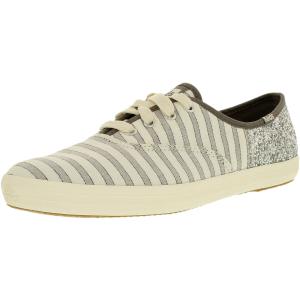 Keds Women's Champion Cabana Stripe Glitter Twill Ankle-High Canvas Fashion Sneaker