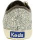 Keds Women's Champion Cabana Stripe Glitter Twill Ankle-High Canvas Fashion Sneaker - Back Image Swatch
