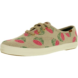 Keds Women's Champion Fruity Animals Linen Ankle-High Canvas Fashion Sneaker