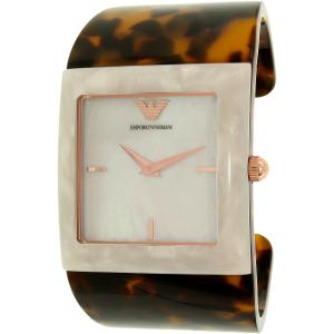 Emporio Armani Women's AR7395 Tortoiseshell Plastic Quartz Watch