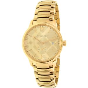 Burberry Women's Classic Round BU10006 Gold Stainless-Steel Swiss Quartz Watch