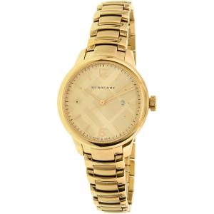 Burberry Women's Classic Round BU10109 Gold Stainless-Steel Swiss Quartz Watch