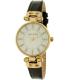 Anne Klein Women's AK-1950MPBK Gold Leather Analog Quartz Watch - Main Image Swatch
