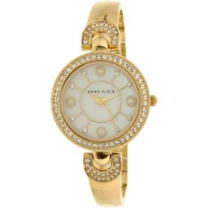 Anne Klein Women's AK-1960GBST Gold Metal Analog Quartz Watch