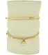 Anne Klein Women's AK-1960GBST Gold Metal Analog Quartz Watch - V4 Image Swatch