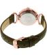 Anne Klein Women's AK-2192RGTP Brown Leather Analog Quartz Watch - Back Image Swatch