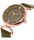 Anne Klein Women's AK-2192RGTP Brown Leather Analog Quartz Watch - Side Image Swatch