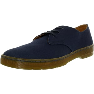 Dr. Martens Men's Delray 3-Eye Twill Canvas Ankle-High Canvas Flat Shoe
