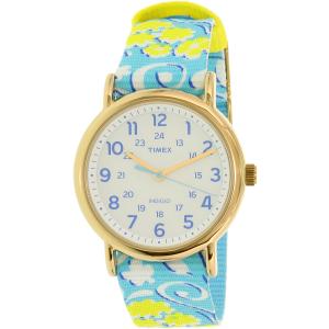 Timex Women's Ironman TW2P90100 Blue Nylon Analog Quartz Watch