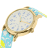 Timex Women's Ironman TW2P90100 Blue Nylon Analog Quartz Watch - Side Image Swatch