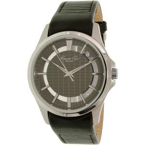 Kenneth Cole Men's New York 10022286 Black Leather Quartz Watch