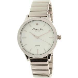 Kenneth Cole Women's New York 10024370 Silver Stainless-Steel Quartz Watch