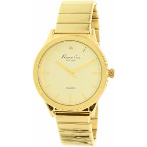 Kenneth Cole Women's New York 10025948 Gold Stainless-Steel Quartz Watch