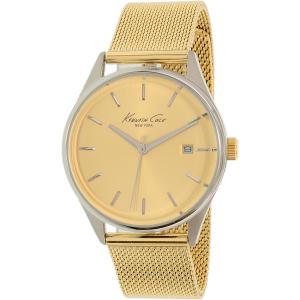 Kenneth Cole Women's New York 10029401 Gold Stainless-Steel Quartz Watch