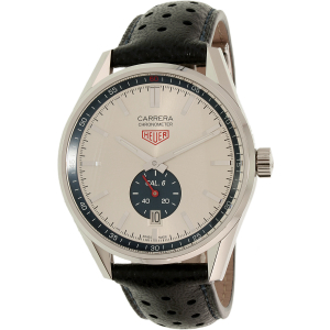 Tag Heuer Men's Carrera WV5111.FC6350 Silver Leather Swiss Automatic Watch