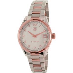 Tag Heuer Women's Carrera WAR1352.BD0779 Silver Stainless-Steel Swiss Quartz Watch