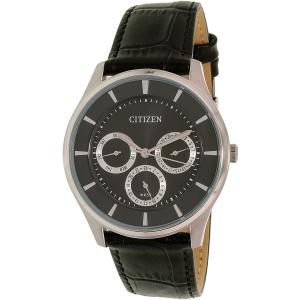 Citizen Men's AG8351-01E Silver Leather Quartz Watch