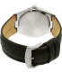 Citizen Men's Eco-Drive AW1130-04A Silver Leather Eco-Drive Watch - Back Image Swatch