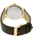 Citizen Men's Eco-Drive AW1232-12A Brown Leather Eco-Drive Watch - Back Image Swatch