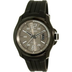 Citizen Men's Eco-Drive AW1354-07H Black Silicone Eco-Drive Watch