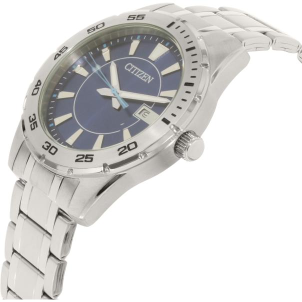 citizen men 39 s bi1040 50l silver stainless steel quartz watch. Black Bedroom Furniture Sets. Home Design Ideas