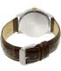 Citizen Men's BI1054-04A Silver Leather Quartz Watch - Back Image Swatch