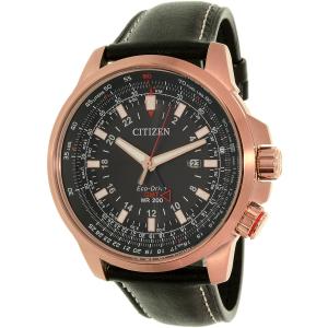 Citizen Men's Eco-Drive BJ7073-08E Black Leather Eco-Drive Watch