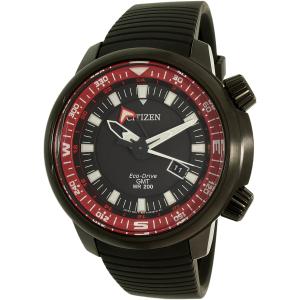 Citizen Men's Eco-Drive BJ7085-09E Black Silicone Eco-Drive Watch