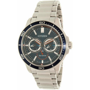 Citizen Men's Eco-Drive BU2040-56L Silver Stainless-Steel Eco-Drive Watch
