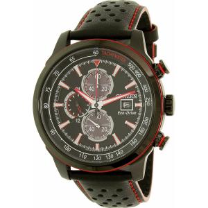 Citizen Men's Eco-Drive CA0576-08E Black Leather Eco-Drive Watch