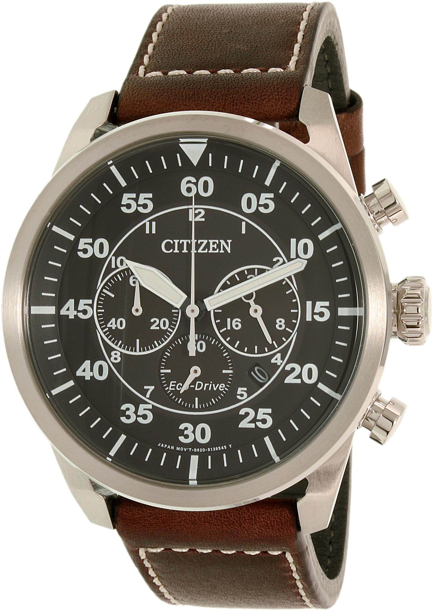 Citizen_Men's_Eco-Drive_CA4210-16E_Silver_Leather_Dress_Watch