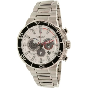 Citizen Men's Eco-Drive CA4250-54A Silver Stainless-Steel Eco-Drive Watch