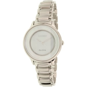 Citizen Women's Eco-Drive EM0380-57D Silver Stainless-Steel Eco-Drive Watch
