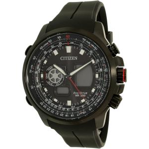 Citizen Men's Eco-Drive JZ1065-05E Black Silicone Eco-Drive Watch