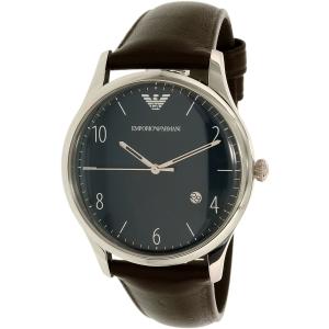Emporio Armani Men's Dress AR1944 Brown Leather Quartz Watch