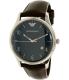 Emporio Armani Men's Dress AR1944 Brown Leather Quartz Watch - Main Image Swatch